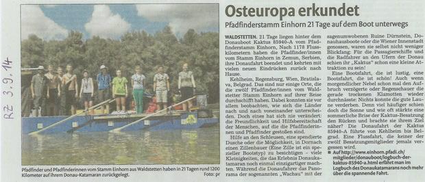 Donaufahrt 2014, Rems-Zeitung